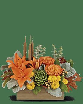 jardin en bambou fleur arrangement floral de de Teleflora automne
