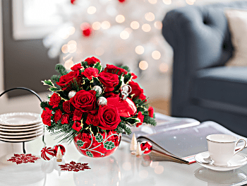 Teleflora's Deck the Holly Bouquet