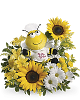 Teleflora's Get Well Soon Bee Flower Bouquet