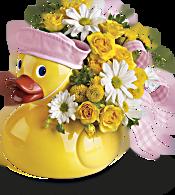 Teleflora's Ducky Delight - Girl Flowers