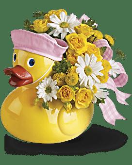 Arrangement floral pour fille Le joli petit canard de Teleflora