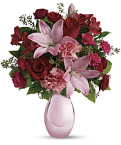 Roses and Pearls Bouquet Flowers