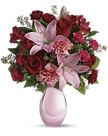 Telefloras Roses And Pearls Bouquet