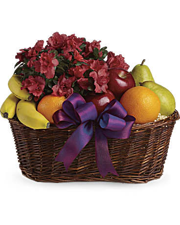 Image Of Fruits And Blooms Basket With SkuT107 3A