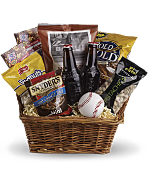 Send a basket full of snacks and drinks