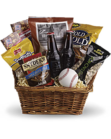 Send Dad the Take Me Out to the Ballgame gift basket