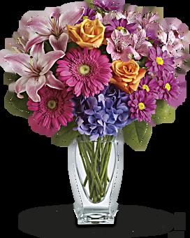 Bouquet Vœux merveilleux par Teleflora