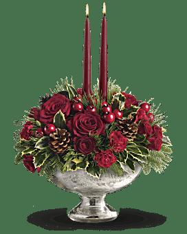 Bouquet Bolée en verre vif-argenté de Teleflora