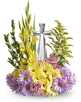 Teleflora's Crystal Cross Bouquet Flower Arrangement