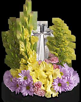 Teleflora's Crystal Cross Bouquet Flower Arrangement