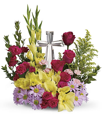Teleflora's Crystal Cross Bouquet Flowers