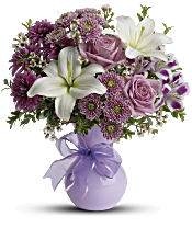 Teleflora's Precious in Purple Flowers