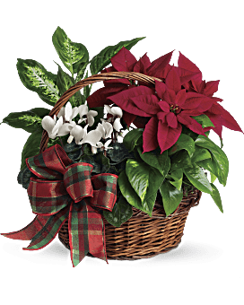 Holiday Homecoming Basket Bouquet