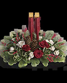 Bouquet centre de table Vœux de Noël