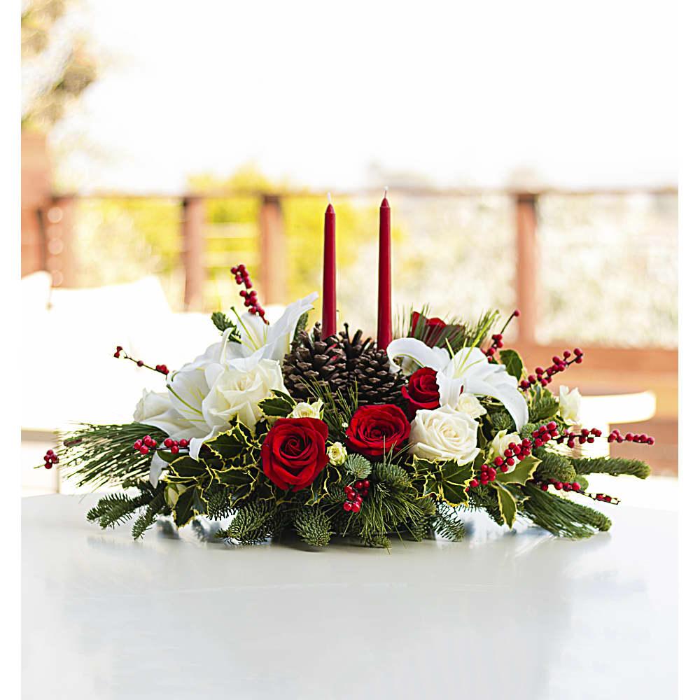 Bouquet De Noel Avec Du Houx bouquet centre de table vœux de noël   teleflora