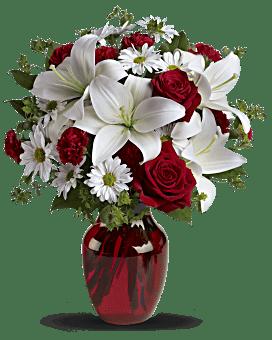 Bouquet Sois mon amour avec roses rouges