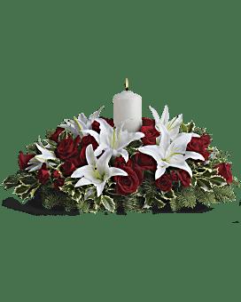 Luminous Lilies Centerpiece Bouquet
