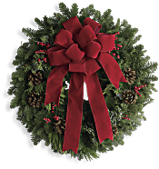 Classic Holiday Wreath Flowers