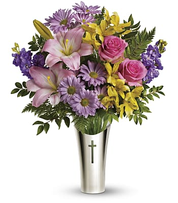 Teleflora's Silver Cross Bouquet Flowers
