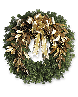 Glitter & Gold Wreath Bouquet