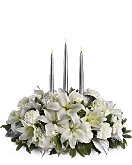 Silver Elegance Centerpiece Bouquet