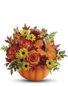 Teleflora's Warm Fall Wishes Bouquet Flower Arrangement