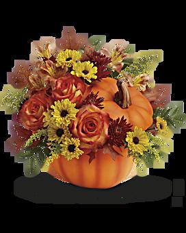 Teleflora's Warm Fall Wishes Bouquet Flower Arrangement
