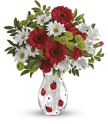 Teleflora's Lovely Ladybug Bouquet Flowers