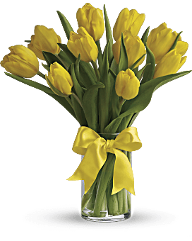 Sunny Yellow Tulips Bouquet