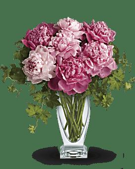 de Teleflora perfectionnent les pivoines bouquet