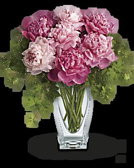 Telefloras pretty in peony flower arrangement teleflora telefloras perfect peonies bouquet mightylinksfo