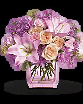 Arrangement floral Que du rose de Teleflora