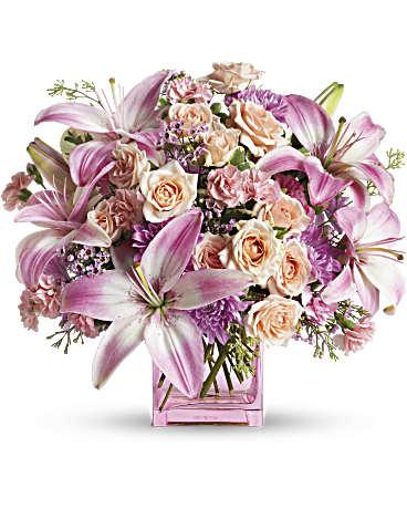Telefloras possibly pink flower arrangement teleflora telefloras possibly pink flower arrangement mightylinksfo