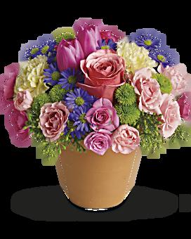 Spring flowers teleflora quick view spring sonata flower arrangement mightylinksfo