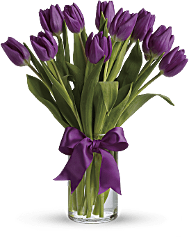 Passionate Purple Tulips Bouquet
