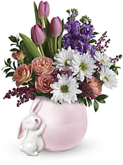 Send a Hug Bunny Love Bouquet Flowers