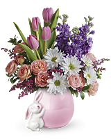 Teleflora's Send a Hug Bunny Love Bouquet