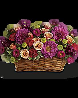 Burst of Beauty Basket Basket Arrangement