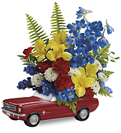 '65 Ford Mustang Bouquet Flowers