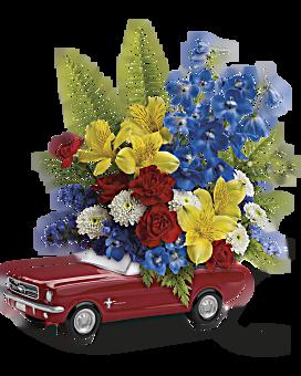 Teleflora's '65 Ford Mustang Bouquet Bouquet