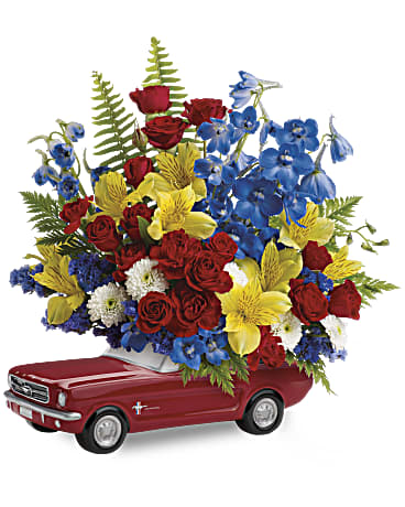 Shop Teleflora's '65 Ford Mustang bouquet