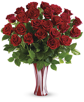 Teleflora's I Adore You Red Rose Bouquet