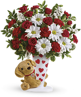 Heartstrings Valentines Day bouquet