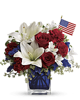 America the Beautiful Bouquet with US flag