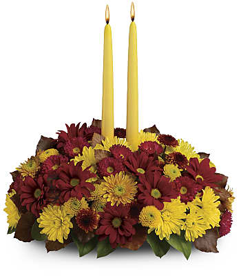 Harvest Happiness Centerpiece Flowers