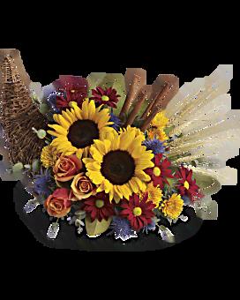 Arrangement floral Corne d'abondance classique