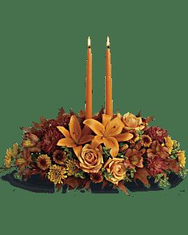 Arrangement floral Centre de table floral Réunion de famille