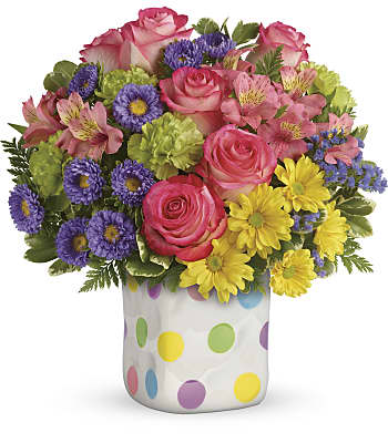 Teleflora's Happy Dots Bouquet Flowers
