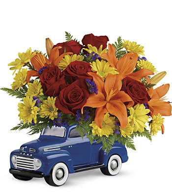 Vintage Ford Pickup Bouquet by Teleflora Flowers