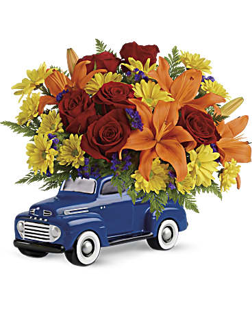 Send the Vintage Ford Pickup Bouquet by Teleflora for Father's Day